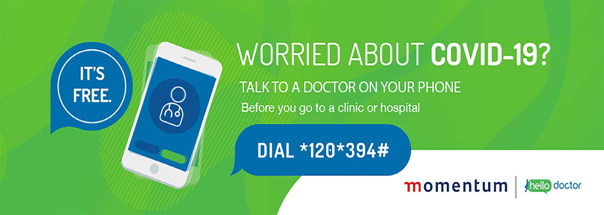 Worried about COVID-19? Talk to a doctor on your phone before you go to a clinic or hospital.