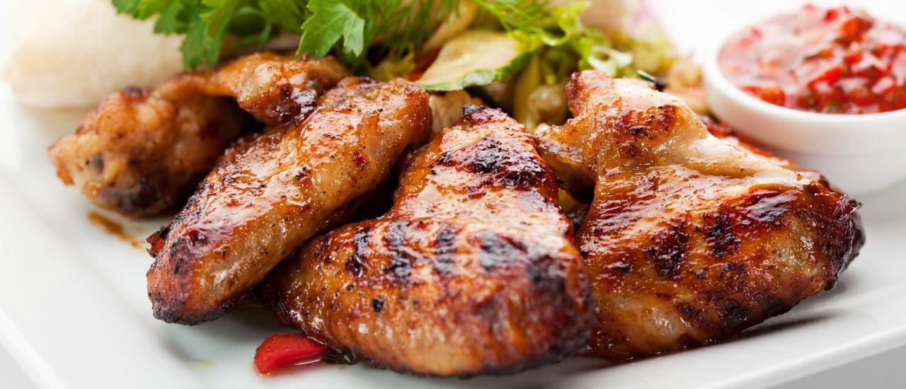 Red wine chicken and garlic