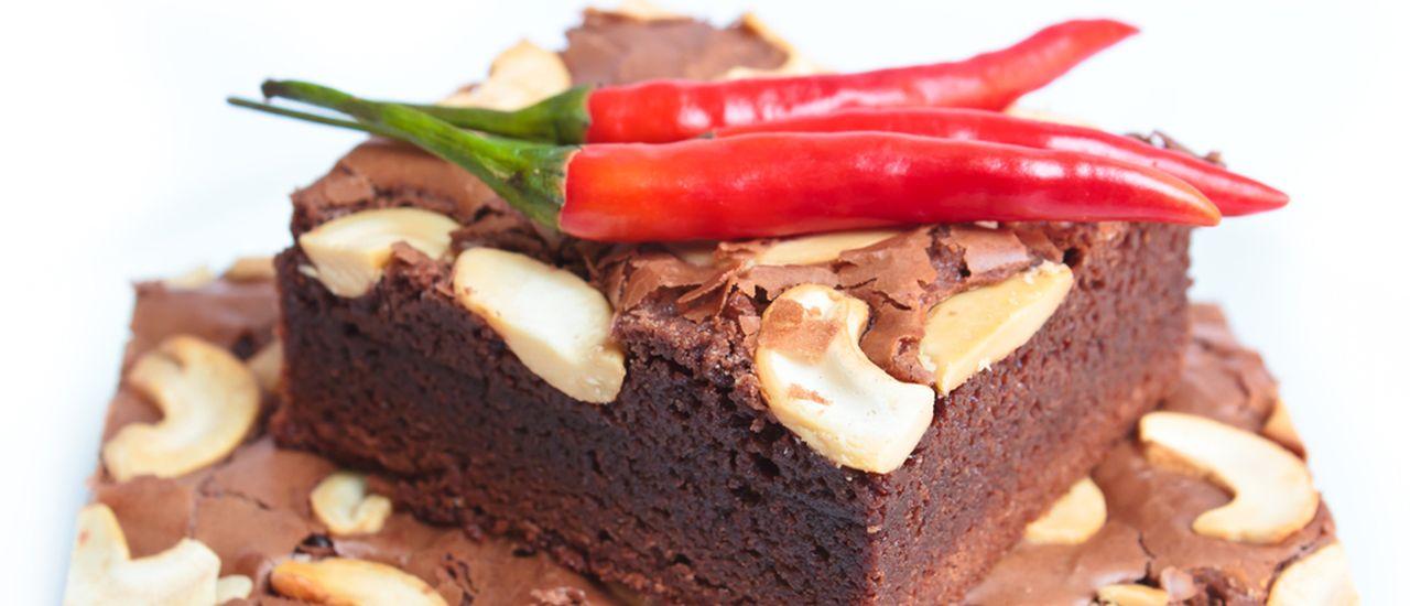 Chocolate-chili chickpea brownie