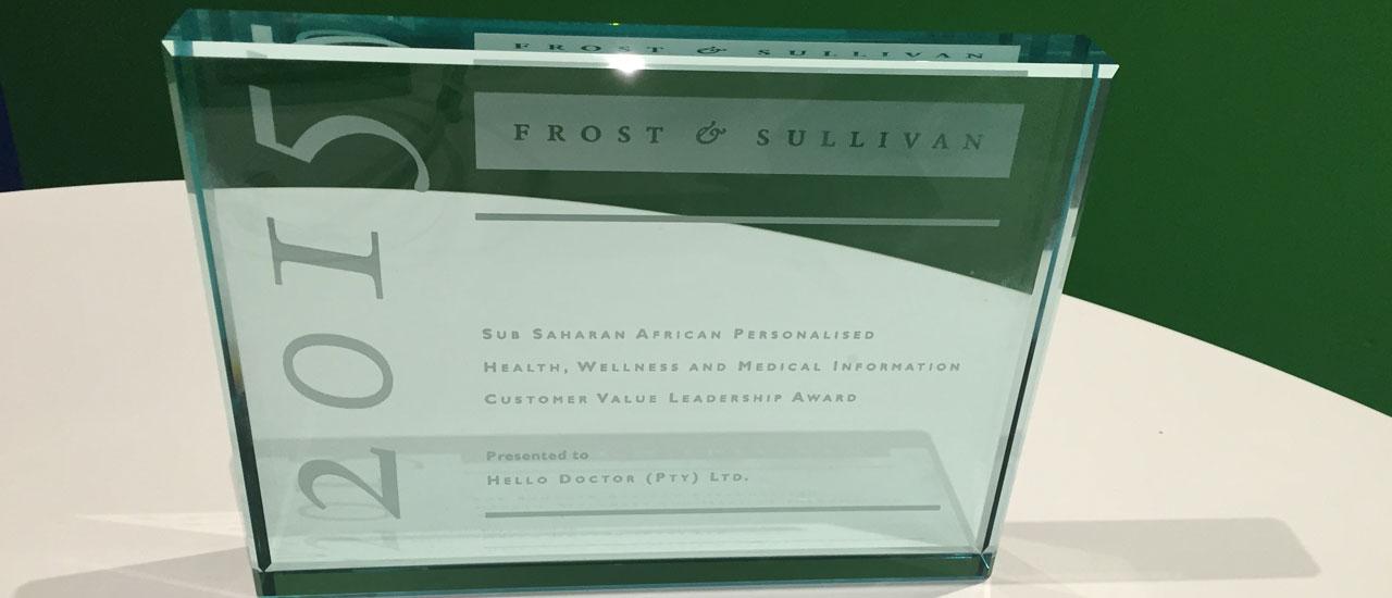 Frost & Sullivan Awards Hello Doctor