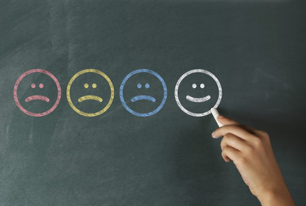 Customer Service Concept on Blackboard