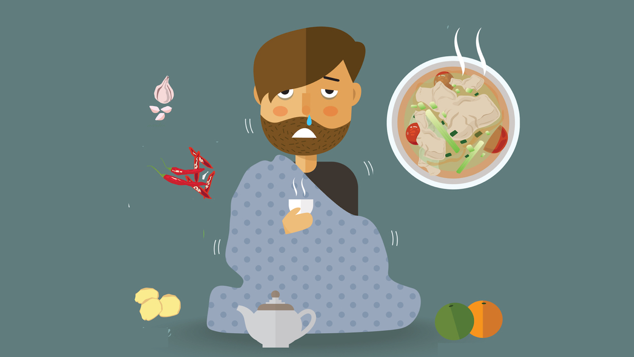 Is chicken soup good for flu?
