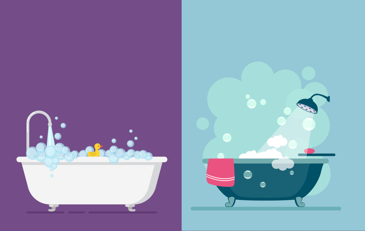 Showers vs. baths: which is better?